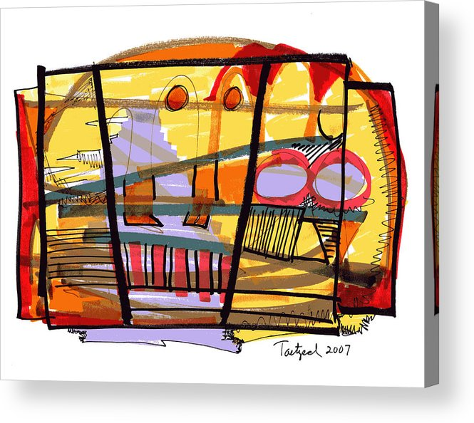 Abstract Acrylic Print featuring the drawing Abstract Drawing Sixty-seven by Lynne Taetzsch