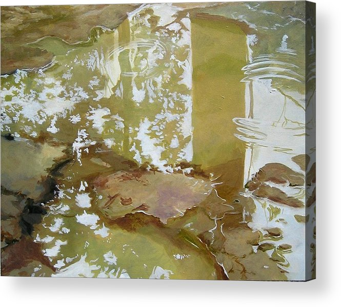 Rain Acrylic Print featuring the painting After The Rain by Denise Ivey Telep