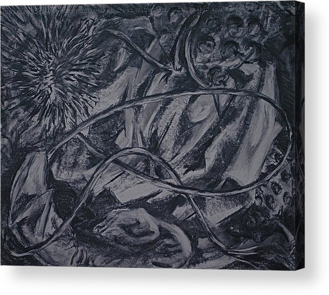 Acrylic Print featuring the drawing Another World by Chris Riley