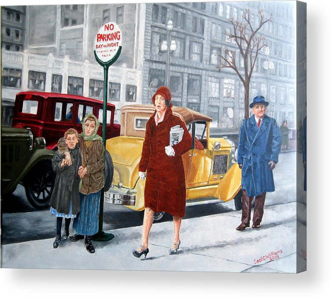 Urban Acrylic Print featuring the painting As Then Now Two by Cecil Williams