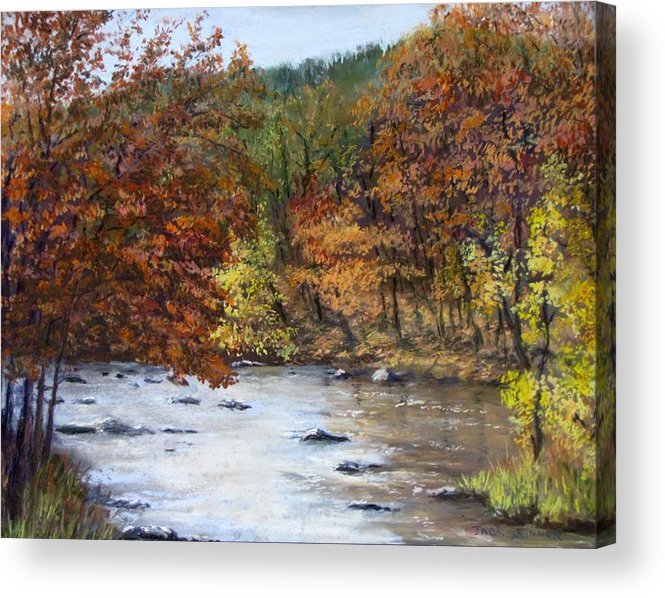 Autumn Acrylic Print featuring the painting Autumn River by Jack Skinner