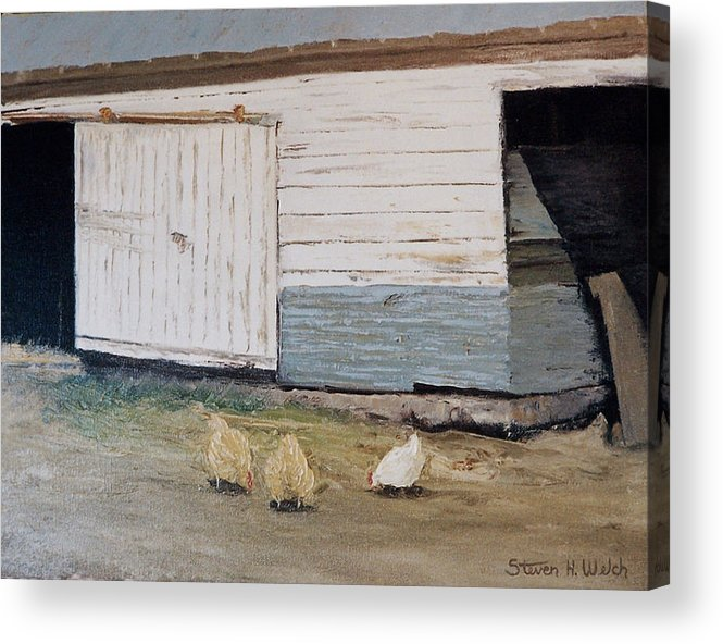Landscape Acrylic Print featuring the painting Back When by Steven Welch