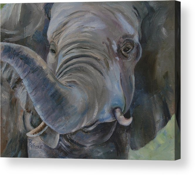 Elephant Acrylic Print featuring the painting Big Boy by Brenda Thour