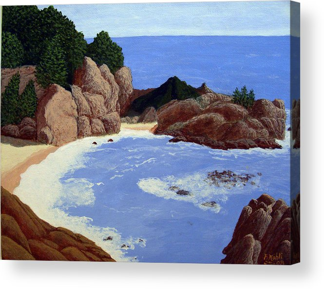Landscape Art Acrylic Print featuring the painting Big Sur by Frederic Kohli