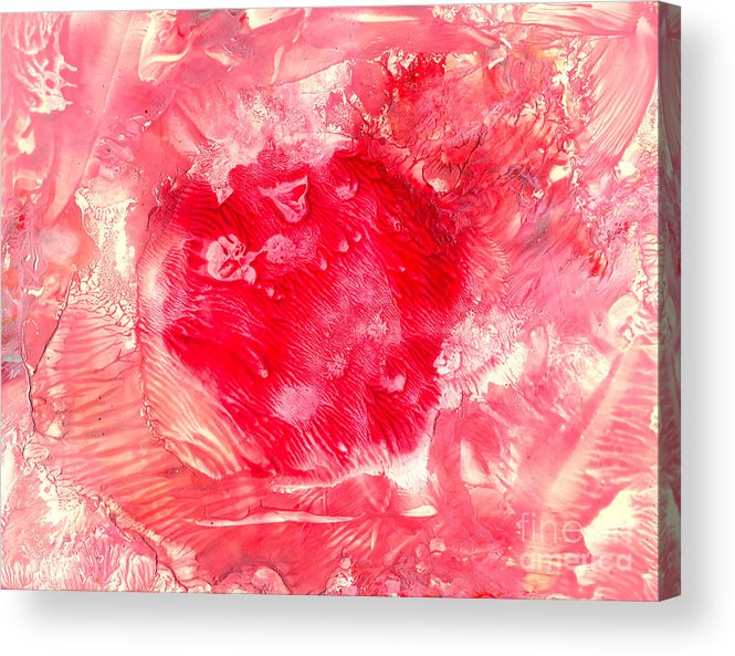 Red Acrylic Print featuring the painting Bk Healing by Heather Hennick
