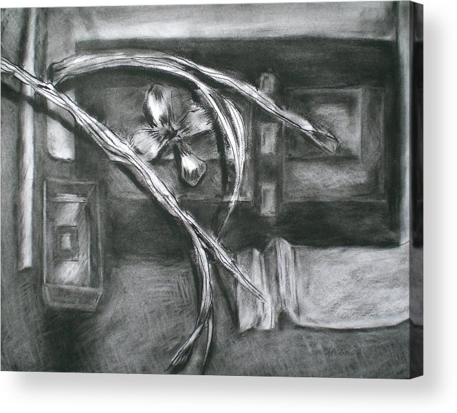 Still Life Acrylic Print featuring the drawing Black And White Composition II by Aleksandra Buha
