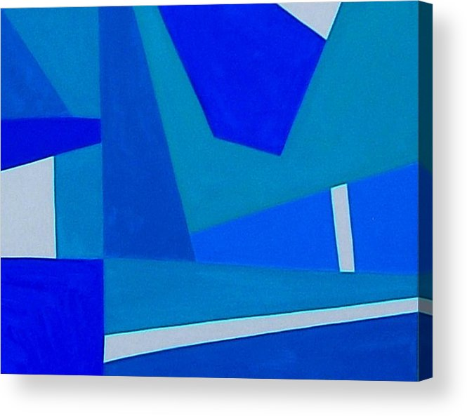 Abstract Acrylic Print featuring the photograph Blue Alert Detail 1 by Dick Sauer