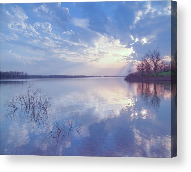 Landscape Acrylic Print featuring the photograph Blue by Ron McGinnis
