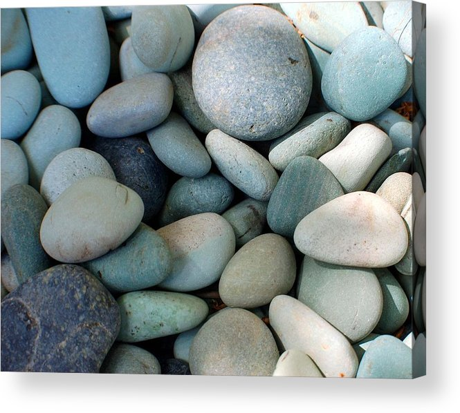 Blue Acrylic Print featuring the photograph Blue Stones From Bali by Heather S Huston