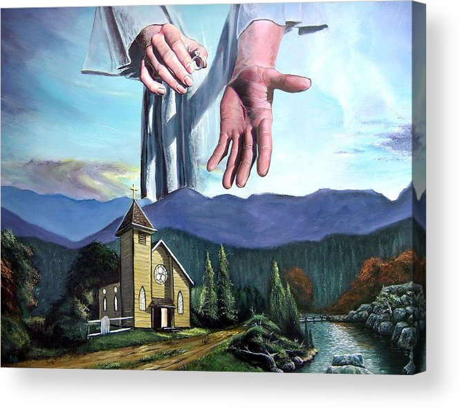 Bridegroom Acrylic Print featuring the painting Bridegroom by Larry Cole