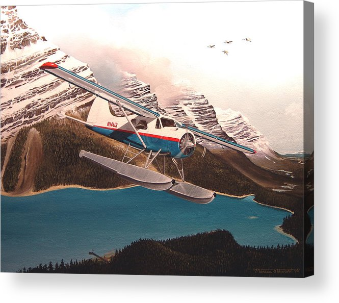 Aviation Acrylic Print featuring the painting Bringing Home The Groceries by Marc Stewart