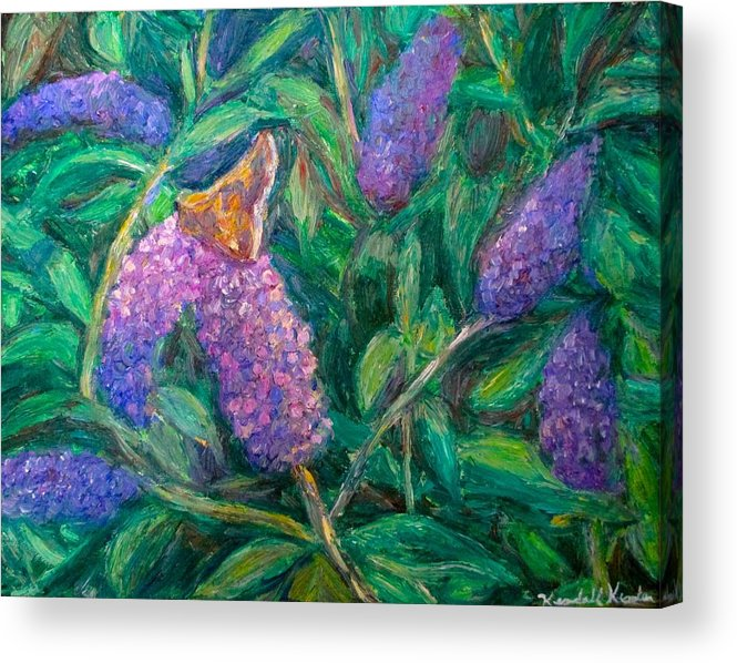 Butterfly Acrylic Print featuring the painting Butterfly View by Kendall Kessler
