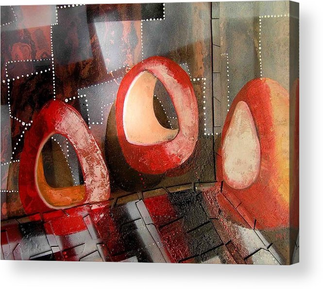 Acrylic Print featuring the painting Candleholders In A Confusion Room by Evguenia Men
