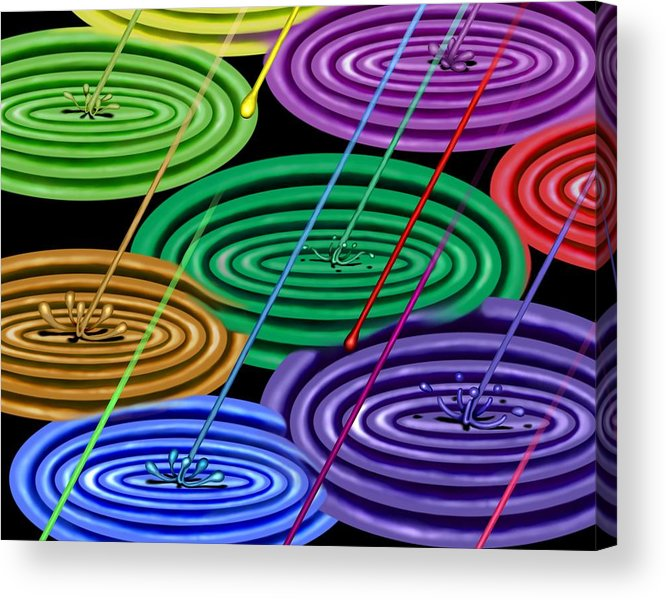 Surrealism Acrylic Print featuring the digital art Chakra Shower I by Robert Morin