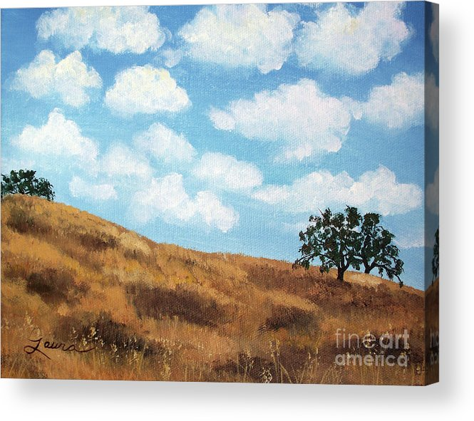 Landscape Acrylic Print featuring the painting Cloud Shadows by Laura Iverson
