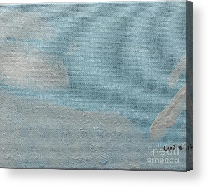 Clouds Acrylic Print featuring the painting Clouds by Epic Luis Art
