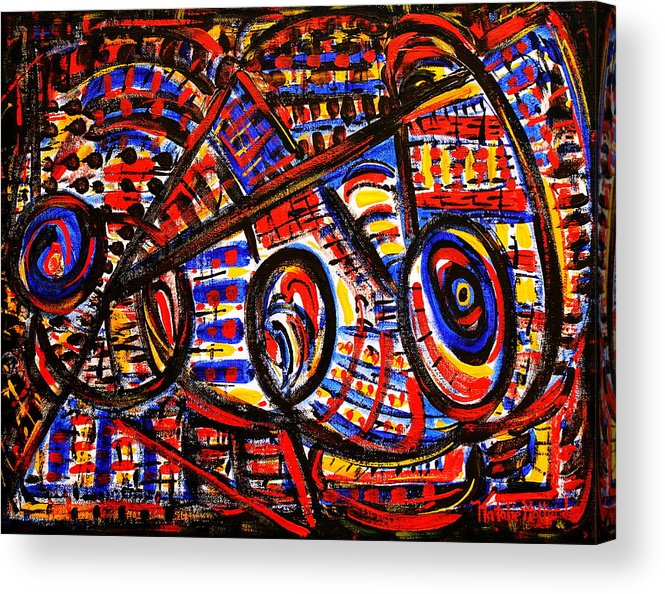 Abstract Acrylic Print featuring the painting Colorful Expression 18 by Natalie Holland