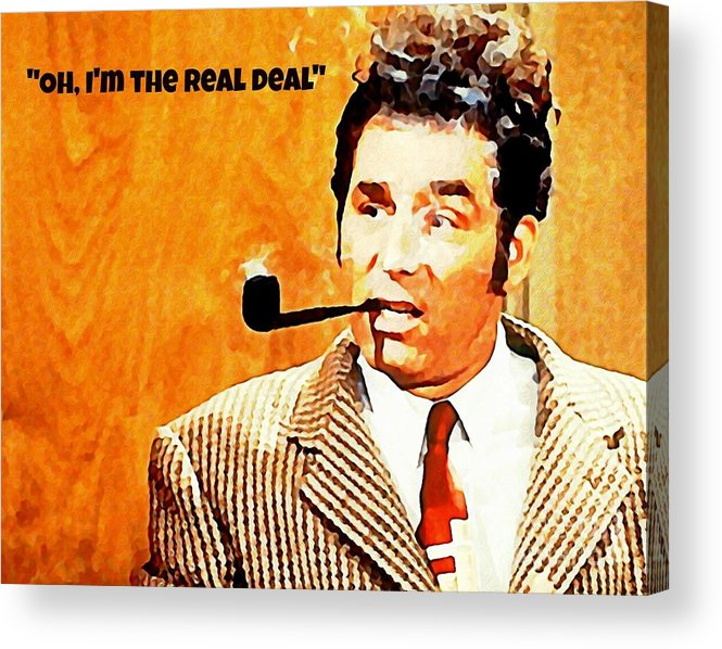 Kramer Acrylic Print featuring the painting Cosmo Kramer The Real Deal by John Malone
