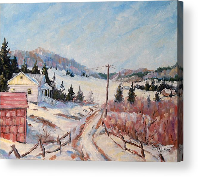 Road Acrylic Print featuring the painting Cottage Road by Richard T Pranke