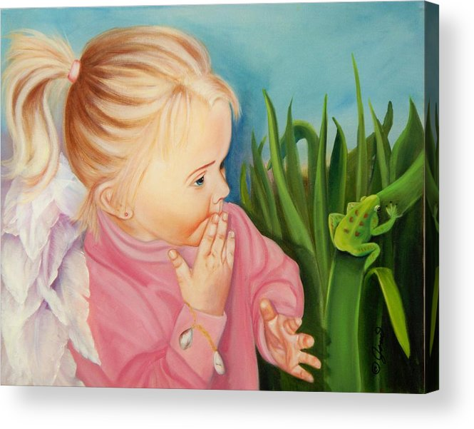 Angel Acrylic Print featuring the painting Could This Be My Prince by Joni McPherson