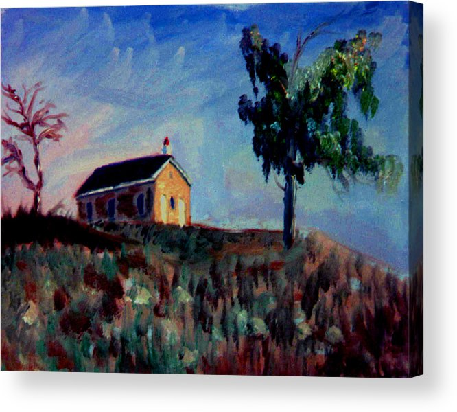 School House Acrylic Print featuring the painting Country School House by Stan Hamilton