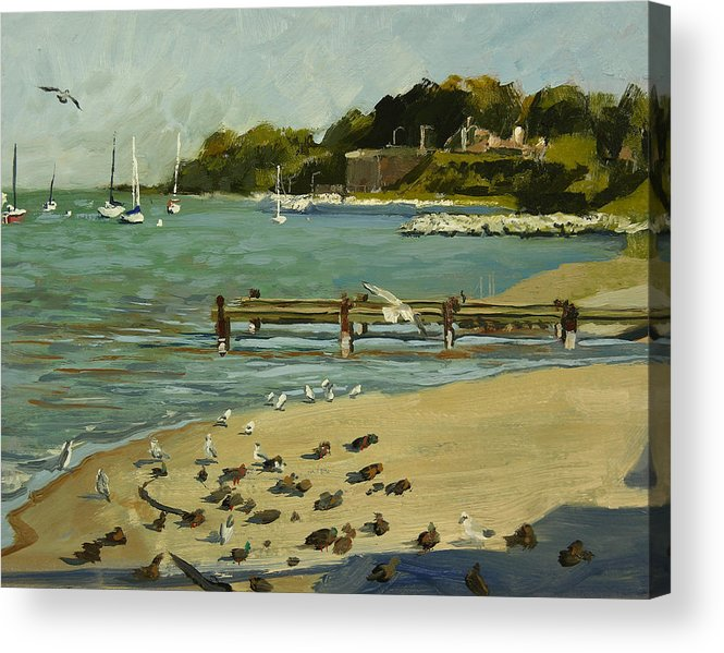 Plein Air Acrylic Print featuring the painting Cupertino Park No. 4 by Anthony Sell