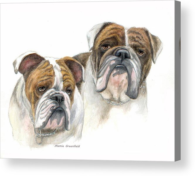 Portraits Acrylic Print featuring the painting daBullies by Mamie Greenfield