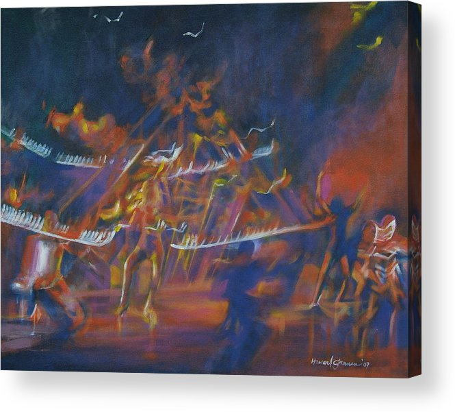 Music And Dance Acrylic Print featuring the painting Dancin by Howard Stroman