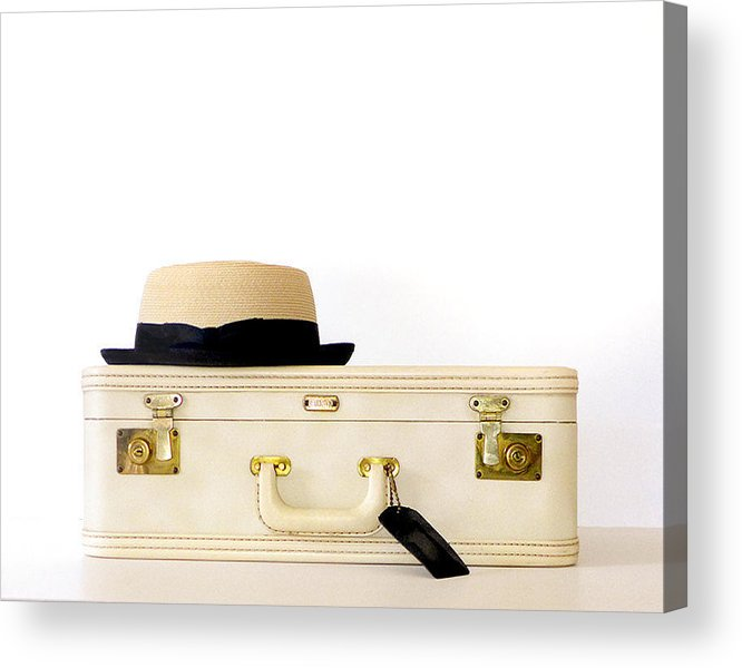 Vintage Suitcase Acrylic Print featuring the photograph Day Tripper by Colleen VT