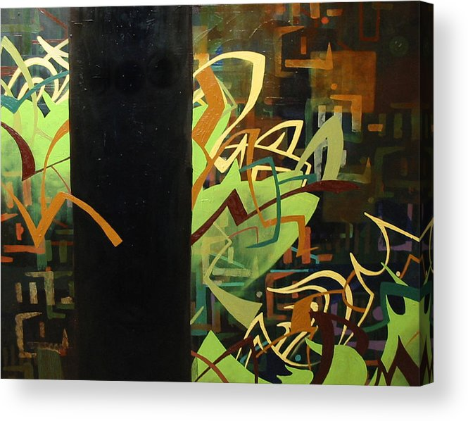 Electric Acrylic Print featuring the painting Electronica by Monica James