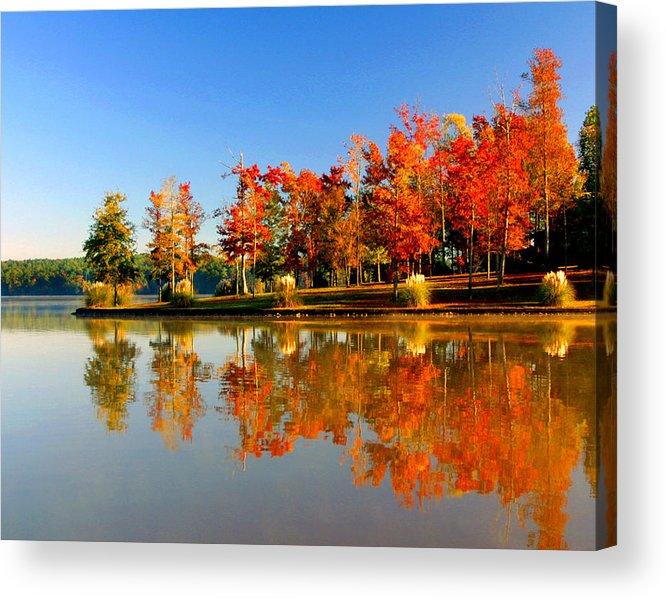 Lake Acrylic Print featuring the photograph Fall On Lake by Ralph Perdomo