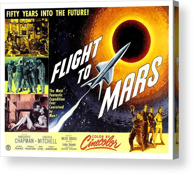1950s Poster Art Acrylic Print featuring the photograph Flight To Mars, 1951 by Everett
