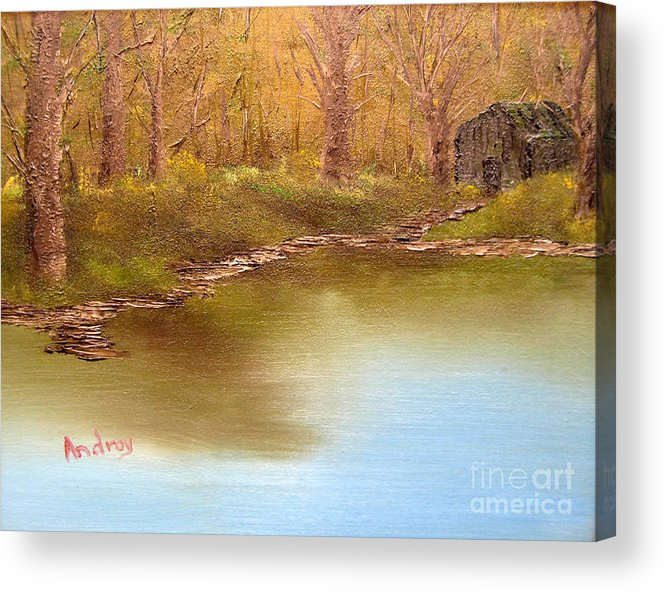 Water Acrylic Print featuring the painting Forgotten Lake by Todd Androy