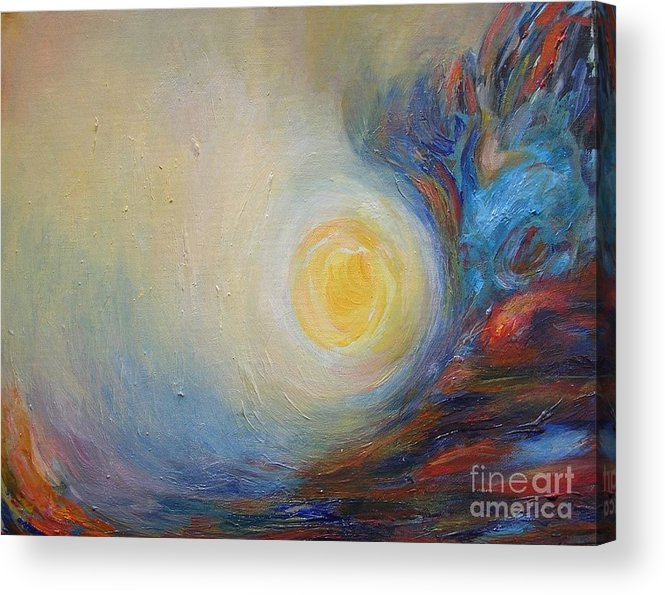 Abstract Original Painting Leilaatkinson Acrylic Print featuring the painting From Brahms' Requiem by Leila Atkinson