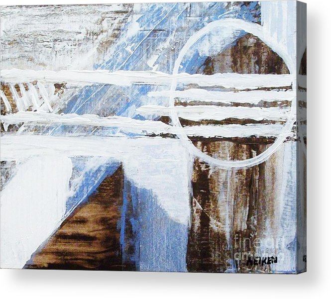 Painting Acrylic Print featuring the painting Full Moon Abstract by Marsha Heiken