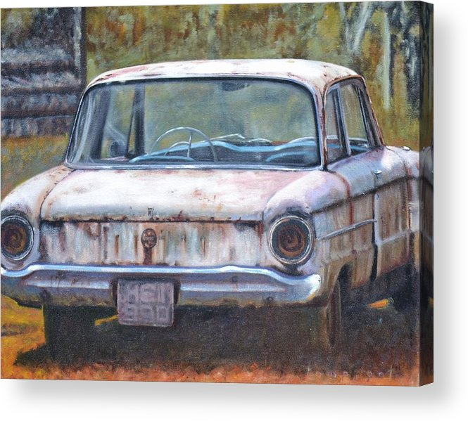 Acrylic Print featuring the painting Futura by Tom Pigot