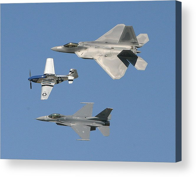 F-22 Acrylic Print featuring the photograph Generations by Donald Tusa
