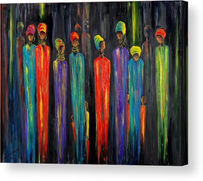 Ethnic Acrylic Print featuring the painting Gogo And Dorris by Marietjie Henning
