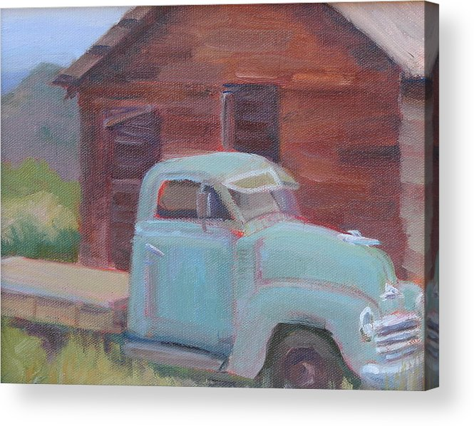 Old Truck Acrylic Print featuring the painting Good Old Days by Sylvia Carlton