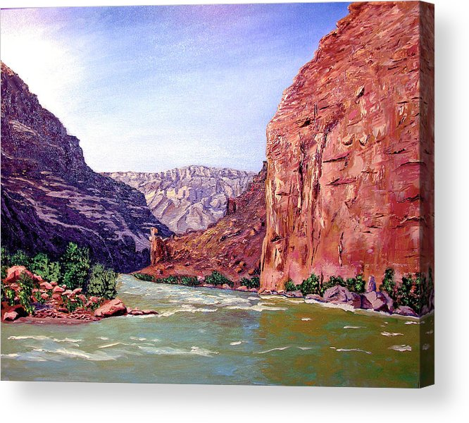 Original Oil On Canvas Acrylic Print featuring the painting Grand Canyon I by Stan Hamilton
