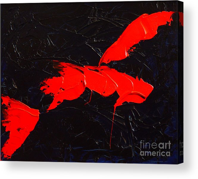 Abstract Acrylic Print featuring the painting Grandma I by Dean Triolo