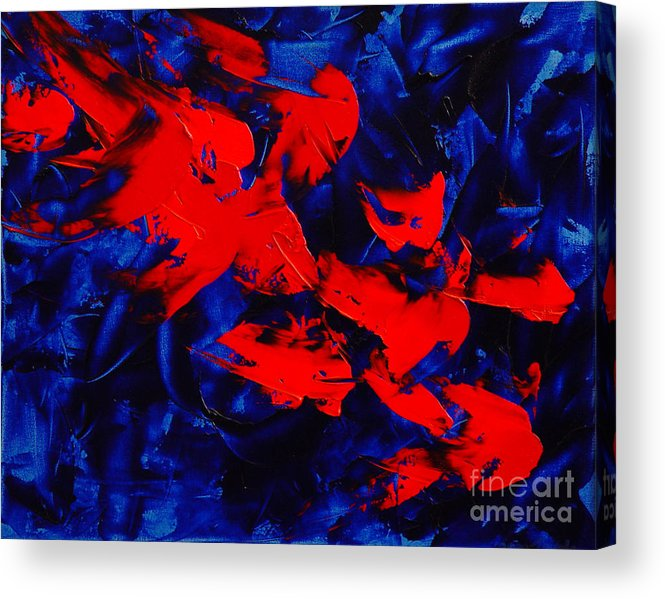 Abstract Acrylic Print featuring the painting Grandma II by Dean Triolo