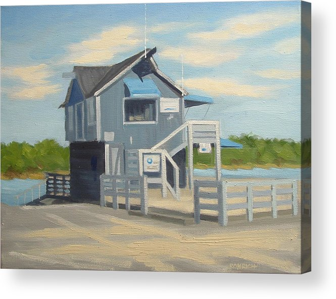 Boat House Acrylic Print featuring the painting H.h. Boat House by Robert Rohrich