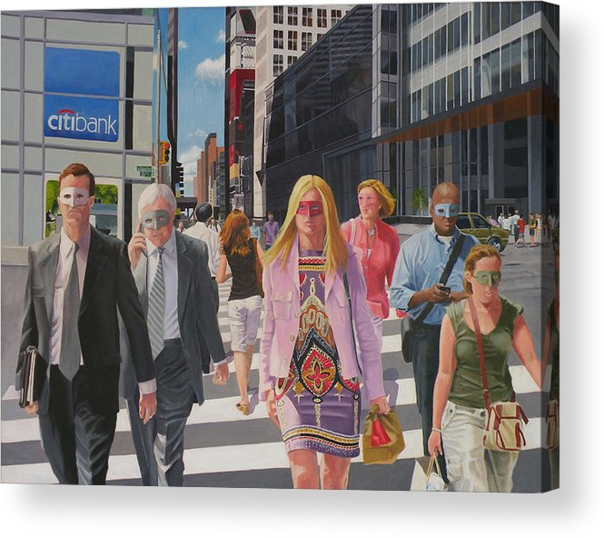 People Acrylic Print featuring the digital art Hidden Personalities by Lou Spina