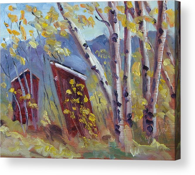 Columbine Colorado Acrylic Print featuring the painting His 'n' Hers At Columbine Colorado by Zanobia Shalks