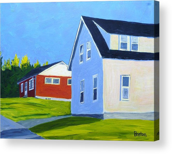 Landscape Acrylic Print featuring the painting Homage by Laurie Breton