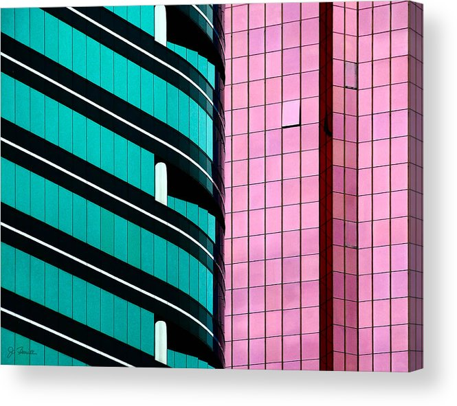 Hong Kong Acrylic Print featuring the photograph Hong Kong Offices by Joe Bonita