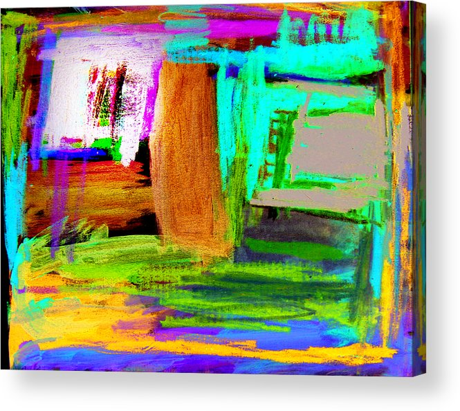 Abstract Acrylic Print featuring the mixed media House by Alfred Resteghini