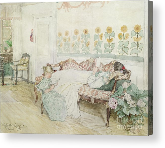 Kroyer Acrylic Print featuring the painting Interior by Peder Severin Kroyer