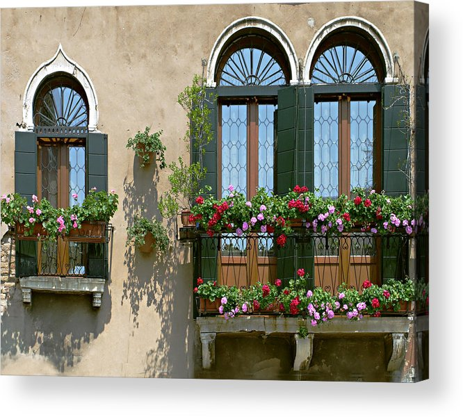 Windows Acrylic Print featuring the photograph Italian Windows by Julie Geiss